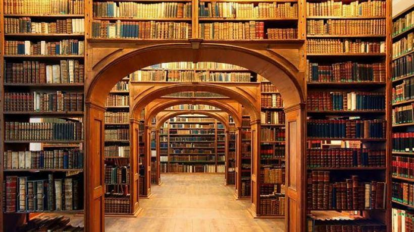 Arches and enclaves of books